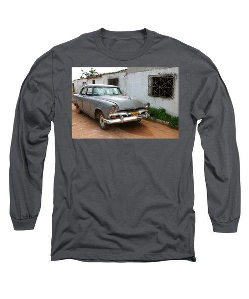 Antique Car Grey Cuba 11300501 Long Sleeve T-Shirt