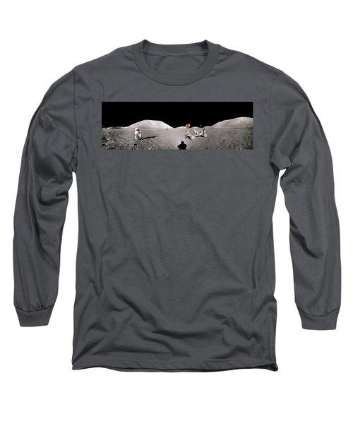 Apollo 17 Taurus-littrow Valley The Moon Long Sleeve T-Shirt