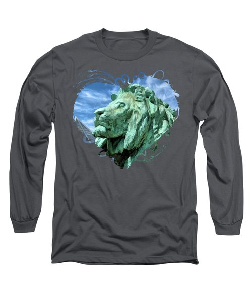 Art Institute In Chicago Lion Long Sleeve T-Shirt