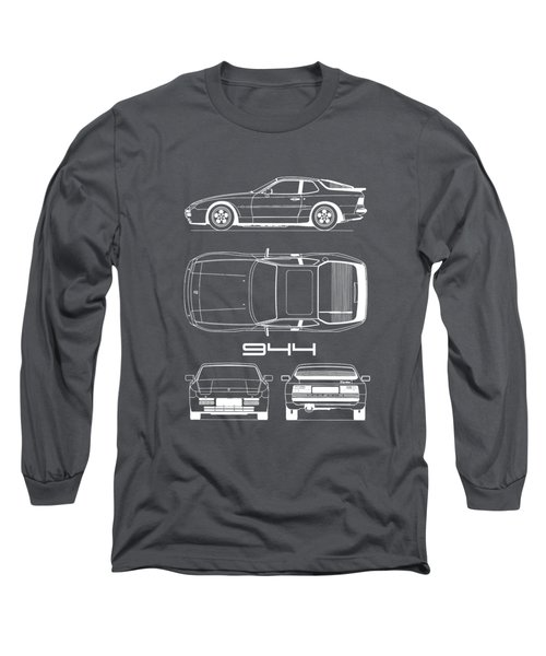 Porsche 944 Blueprint Long Sleeve T-Shirt