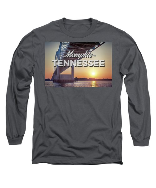 Bridge Over Mississippi River Long Sleeve T-Shirt