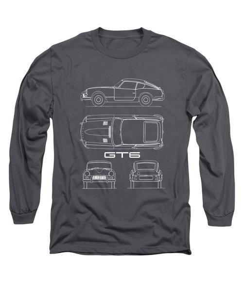 Triumph Gt6 Blueprint Long Sleeve T-Shirt