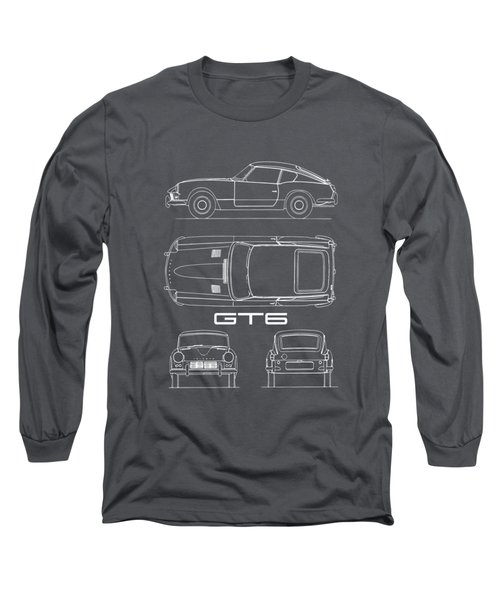 Triumph Gt6 Blueprint Long Sleeve T-Shirt