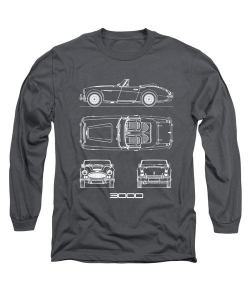 The Austin-healey 3000 Blueprint Long Sleeve T-Shirt