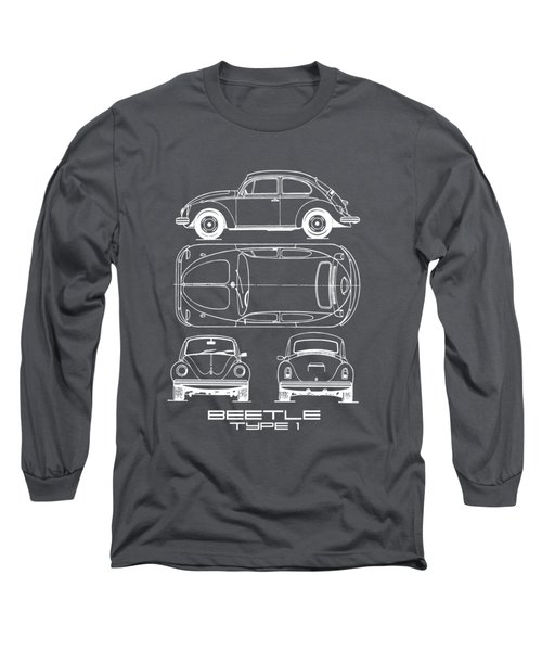 The Classic Beetle Blueprint Long Sleeve T-Shirt