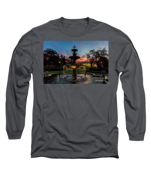 Augusta University Fountain Sunset Ga Long Sleeve T-Shirt