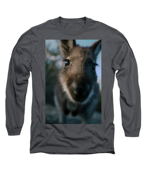 Australian Bush Wallaby Outside During The Day. Long Sleeve T-Shirt
