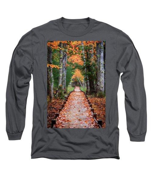 Autumn At Jesup Path Long Sleeve T-Shirt