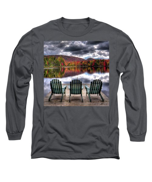 Long Sleeve T-Shirt featuring the photograph Autumn At The Lake by David Patterson