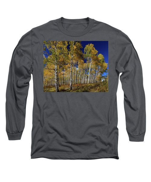 Long Sleeve T-Shirt featuring the photograph Autumn Blue Skies by James BO Insogna