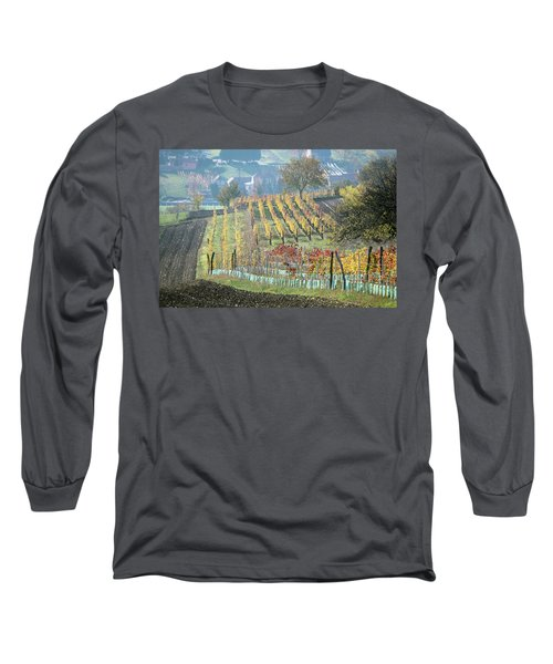 Long Sleeve T-Shirt featuring the photograph Autumn In South Moravia 7 by Dubi Roman
