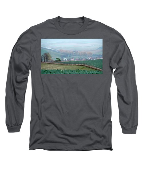Long Sleeve T-Shirt featuring the photograph Autumn South In Moravia 6 by Dubi Roman