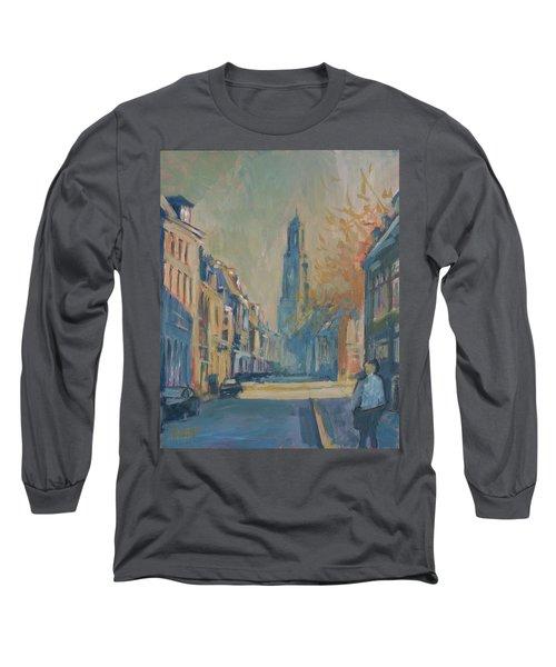 Autumn In The Lange Nieuwstraat Utrecht Long Sleeve T-Shirt