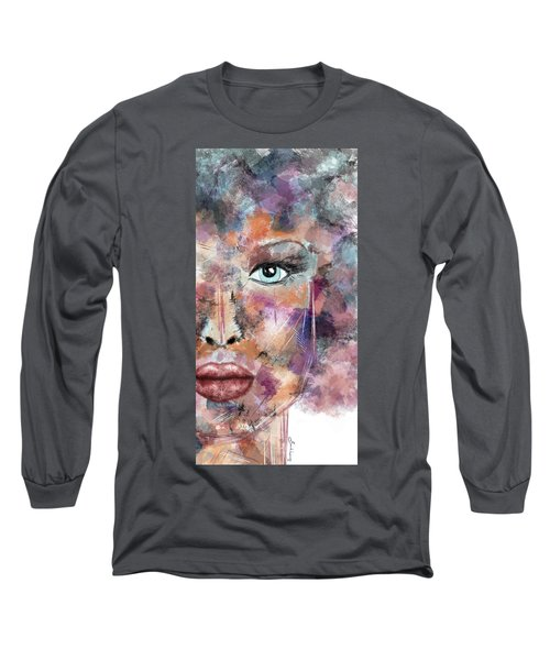 Autumn - Woman Abstract Art Long Sleeve T-Shirt