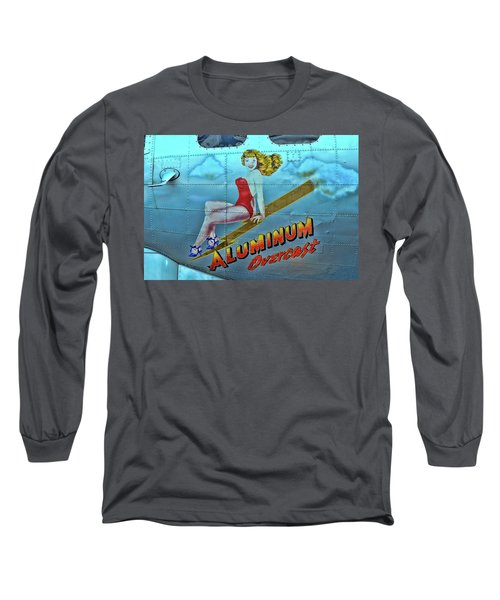 B - 17 Aluminum Overcast Pin-up Long Sleeve T-Shirt