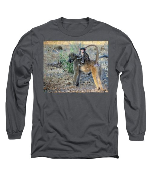 Baboon And Baby Long Sleeve T-Shirt