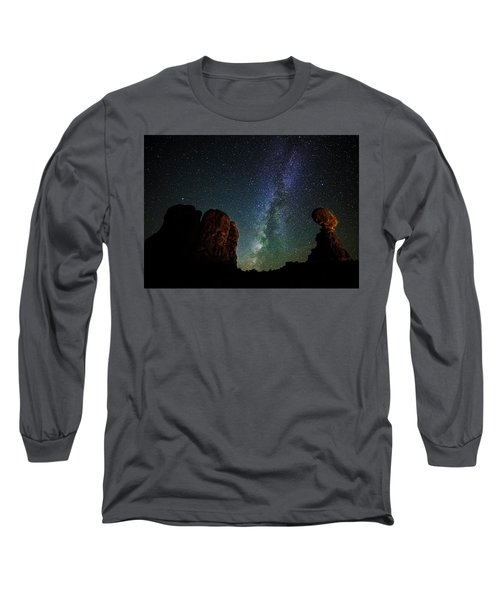 Long Sleeve T-Shirt featuring the photograph Balancing Act by Andy Crawford