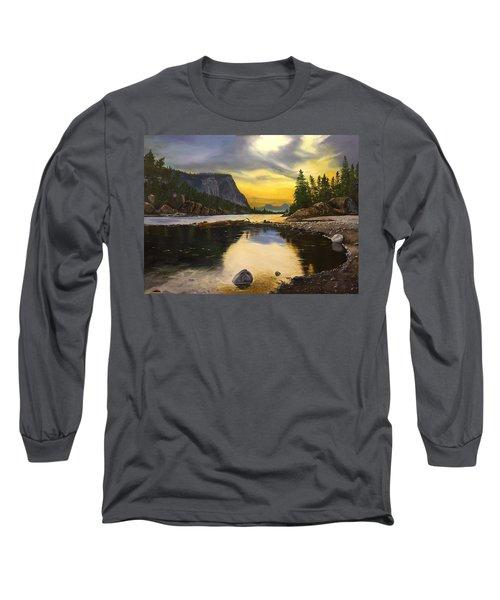 Bow River Sunrise  Long Sleeve T-Shirt