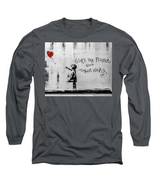 Banksy Balloon Girl Fight The Fighters Long Sleeve T-Shirt