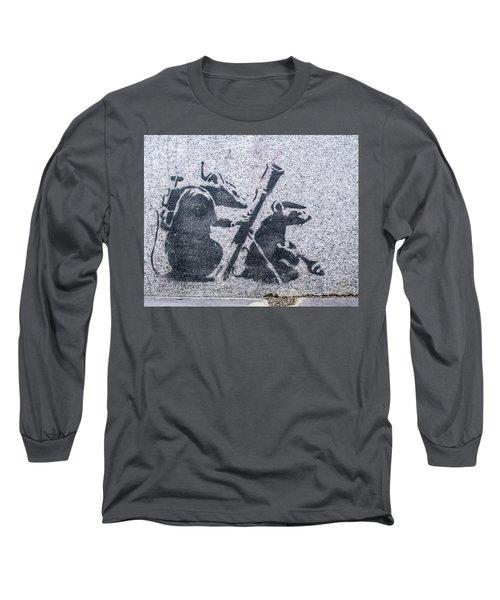 Banksy Bazooka Rats Long Sleeve T-Shirt