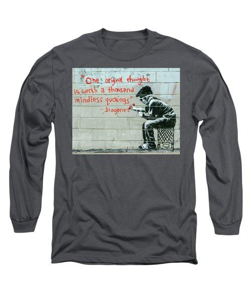 Banksy Diogenes Long Sleeve T-Shirt