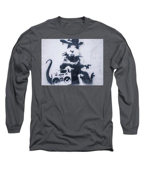 Banksy's Gansta Rat Long Sleeve T-Shirt