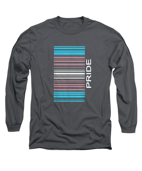 Barcode Transgender Pride Lgbtq Flag Trans Support Gifts T-shirt Long Sleeve T-Shirt