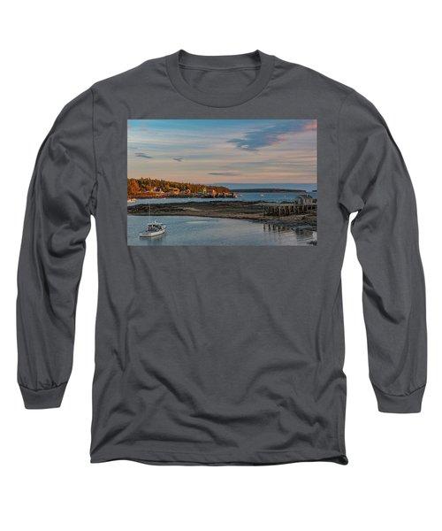 Bass Harbor Sunset Long Sleeve T-Shirt