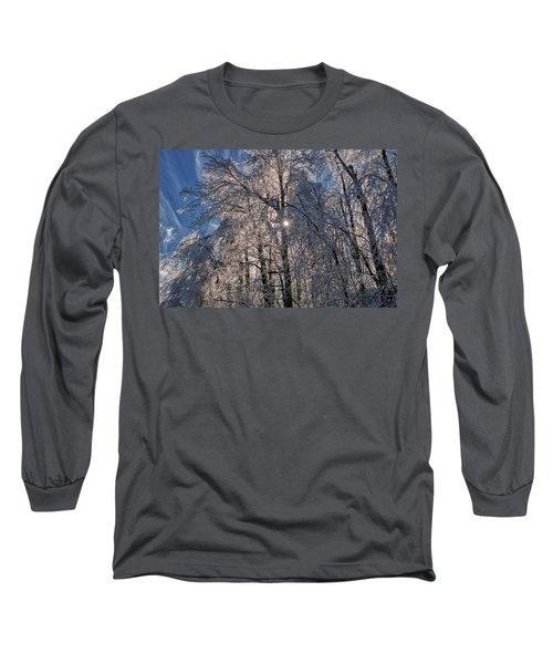 Bass Lake Trees Frozen Long Sleeve T-Shirt