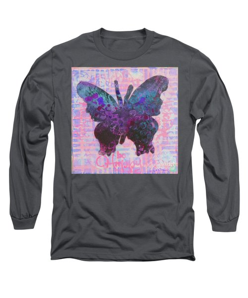 Be Happy Butterfly Long Sleeve T-Shirt