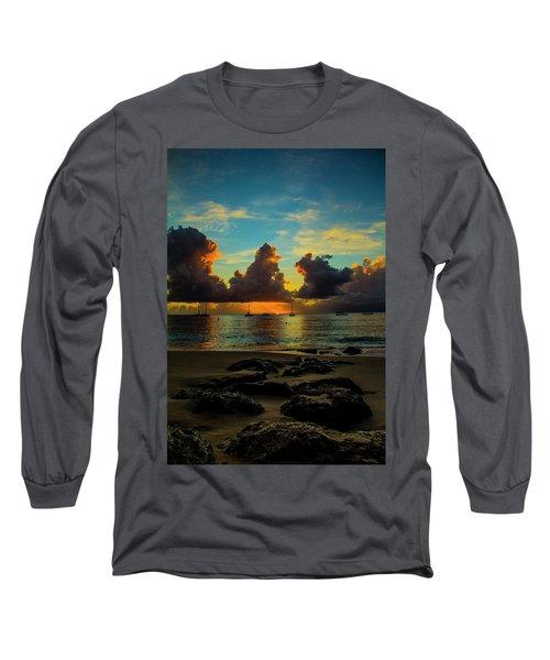 Beach At Sunset 2 Long Sleeve T-Shirt