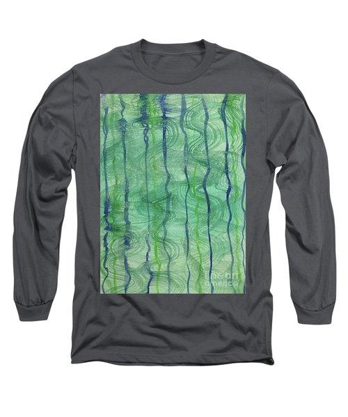Beach Water Lines Long Sleeve T-Shirt