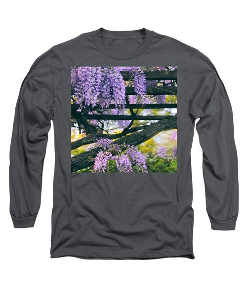 Wisteria Draped Trellis  Long Sleeve T-Shirt