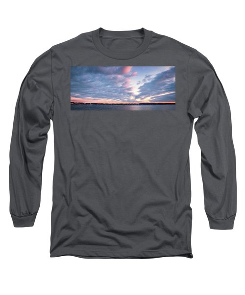 Big Sky Over Portsmouth Light. Long Sleeve T-Shirt