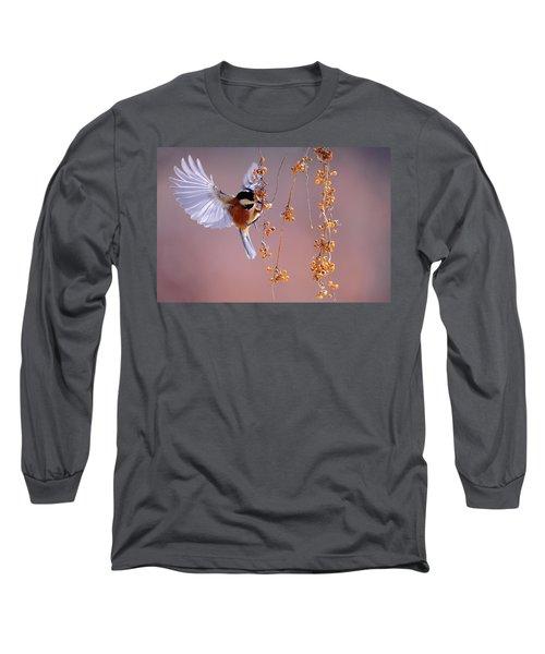 Bird Eating On The Fly Long Sleeve T-Shirt