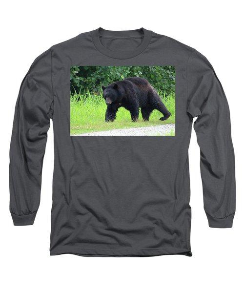 Black Bear Crossing Long Sleeve T-Shirt