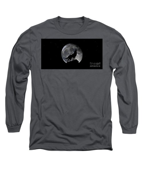 Pre Blood Red Wolf Supermoon Eclipse 873r Long Sleeve T-Shirt