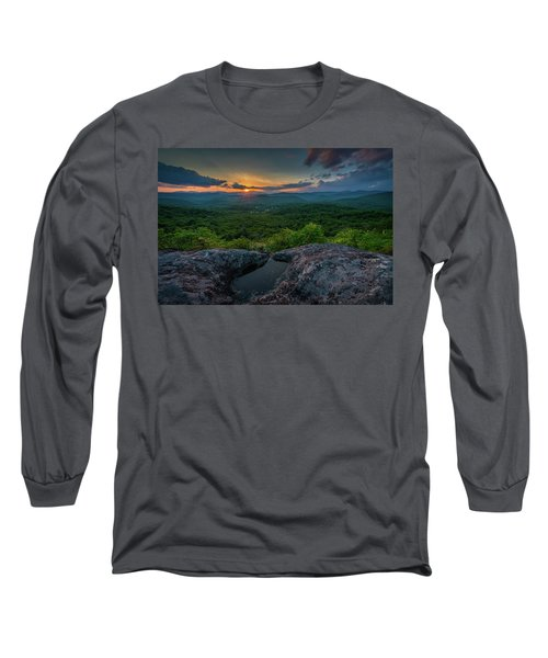 Blue Ridge Mountain Sunset Long Sleeve T-Shirt