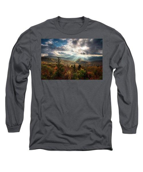 Blue Ridge Mountains Asheville Nc Scenic Autumn Landscape Photography Long Sleeve T-Shirt