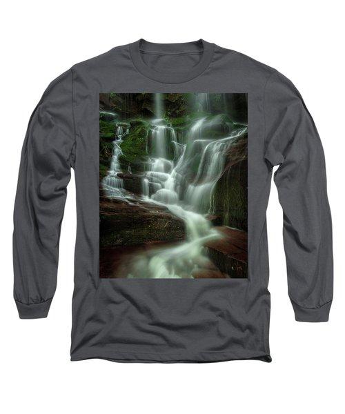 Blue Ridge Mountains Cascade Long Sleeve T-Shirt
