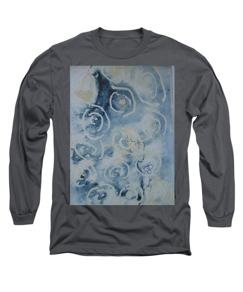 Blue Spirals Long Sleeve T-Shirt