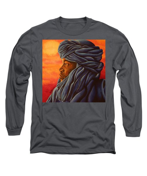 Blue Tuareg Long Sleeve T-Shirt