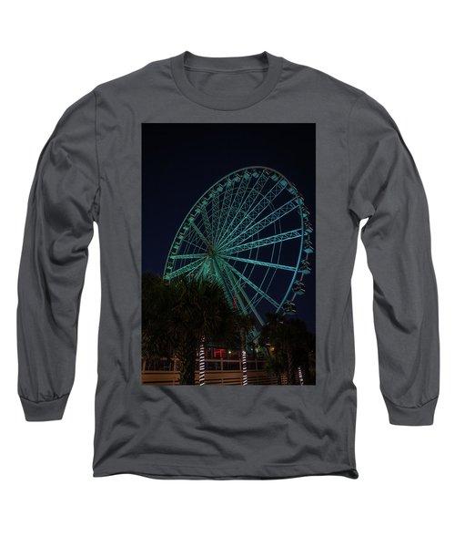 Blue Wheel Long Sleeve T-Shirt