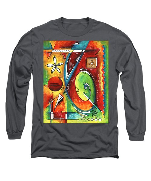 Bold Abstract Symbolic Inspirational Original Painting Follow Your Path By Madart Long Sleeve T-Shirt