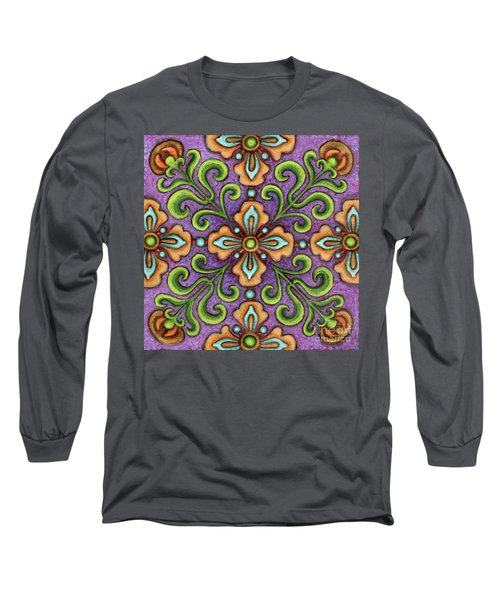 Botanical Mandala 10 Long Sleeve T-Shirt
