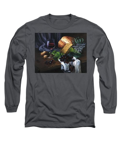 Bread And Wine Long Sleeve T-Shirt