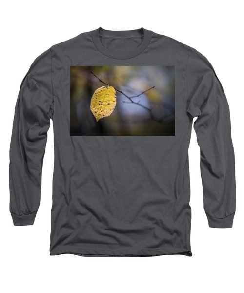Long Sleeve T-Shirt featuring the photograph Bright Fall Leaf 1 by Michael Arend