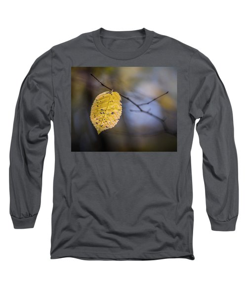 Long Sleeve T-Shirt featuring the photograph Bright Fall Leaf 3 by Michael Arend