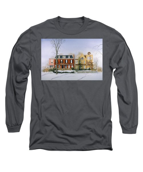 Broom Street Snow Long Sleeve T-Shirt