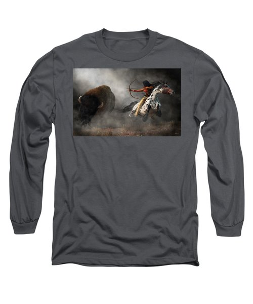 Buffalo Hunt Long Sleeve T-Shirt